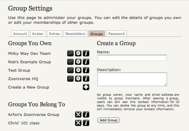 Groups Screenshot