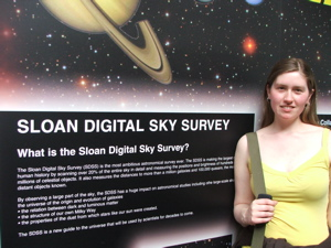 Hanny at the SDSS display